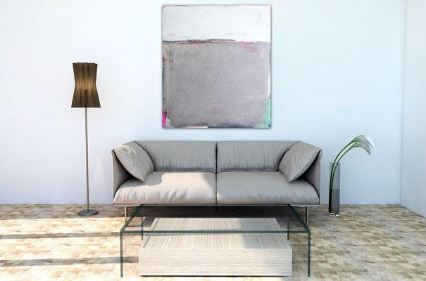 graues Bild für Wohnzimmer