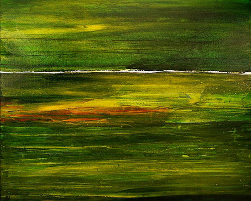 abstraktes grünes Gemälde
