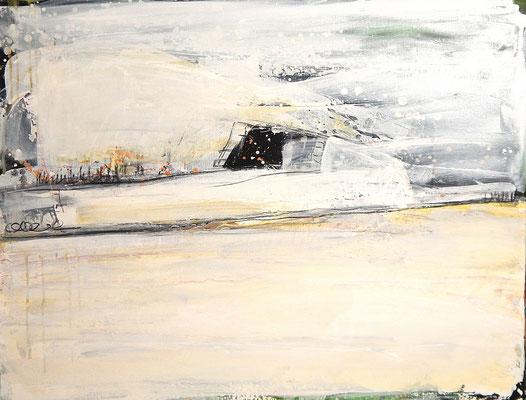 weißes Gemälde kaufen Wartezimmer verlauft