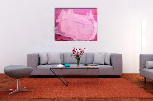 rosa bild gemälde kunst