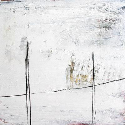 Aufeinander zugehen - Gemälde