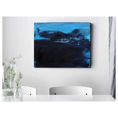 blaues acrylbild