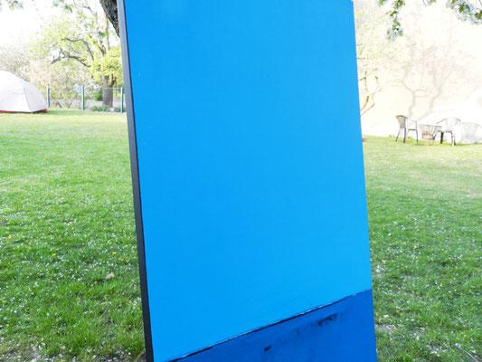 blaues große Gemälde