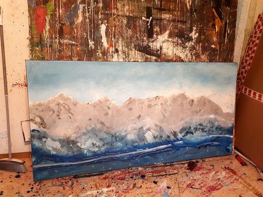 Gebirge skizziert