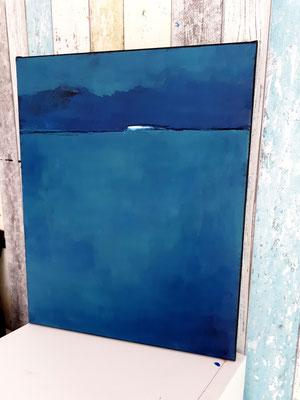 Blaues Bild Landschaft 1