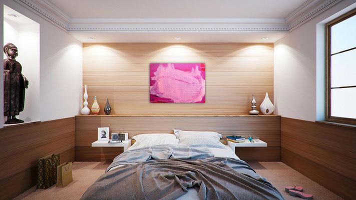 abstrakte Malerei pink