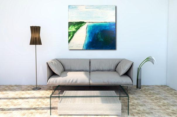 blaues Bild im Raum