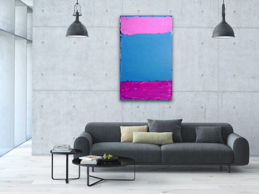 Bild rosa blau