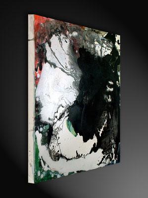 gemaltes Bild in schwarzweiss