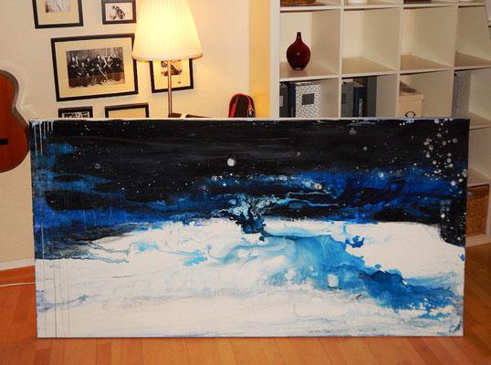 gemälde abstrakt blau
