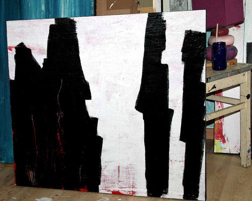 abstrakte Bilder in schwarzweiss