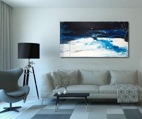 blaues großes Bild Vollmond