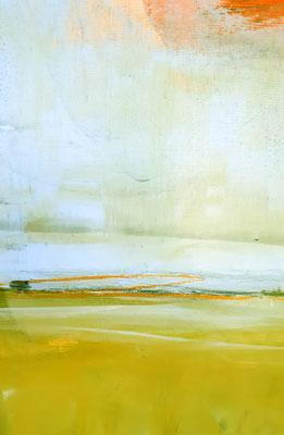 abstrakte Landschaft grün hellblau