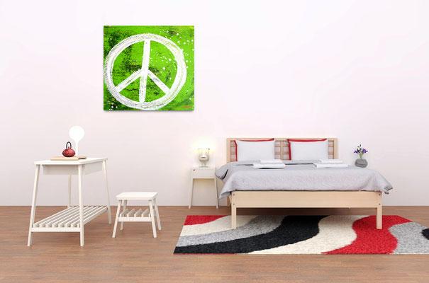 grüne Malerei