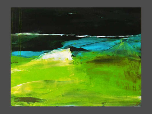 Abstakte grüne Landschaft in xxl
