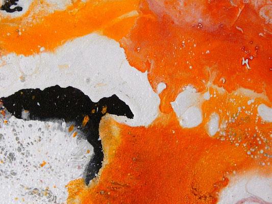 Acrylamlerei in orange