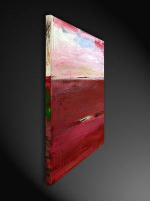 rotes abstraktes Bild seitenansicht