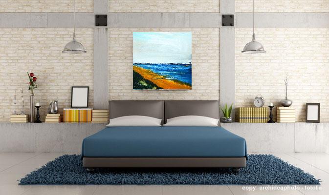Bild mit Strand gemalt