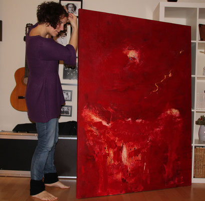 rotes Bild als auftragsmalerei