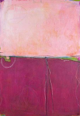 bild gemalt weinrot rosa