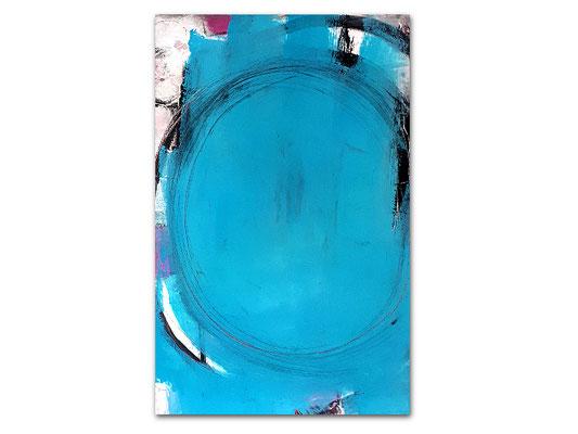 Abstrakets blaues Bild