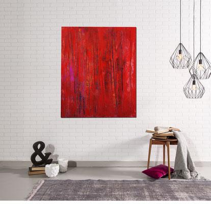 Rote Bilder für Wohnzimmer