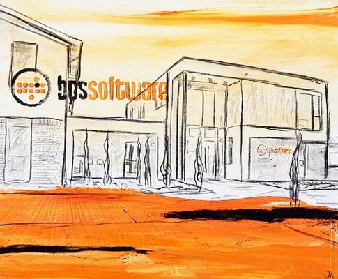 Bild für Unternehmen malen lassen - Incl. Platzierung Ihres Firmenlogos oder Firmengebäudes
