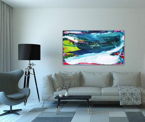 Bild blau painting