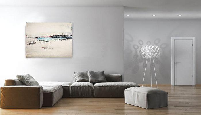 Bild im Raum hängend