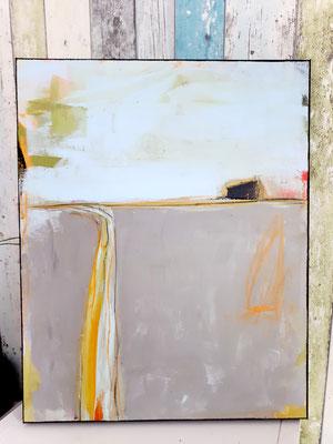 abstrakte Landschaft grau