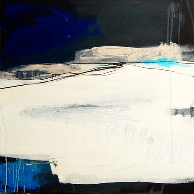 blaues abstraktes Bild  - Mitte finden nr. 2