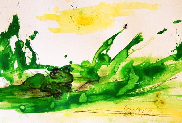 froschbild - inspiriert durch ein konzert von Dieter Thomas kuhn
