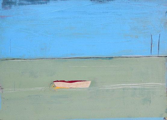grün blaues Bild modern Boot