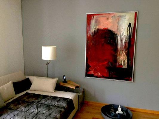 abstraktes Bild rot