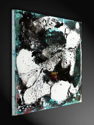 gemälde schwarz weiß 60 x 60 cm