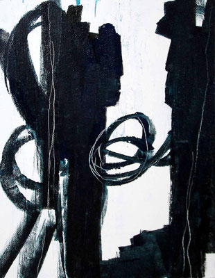 gemälde abstrakt s/w