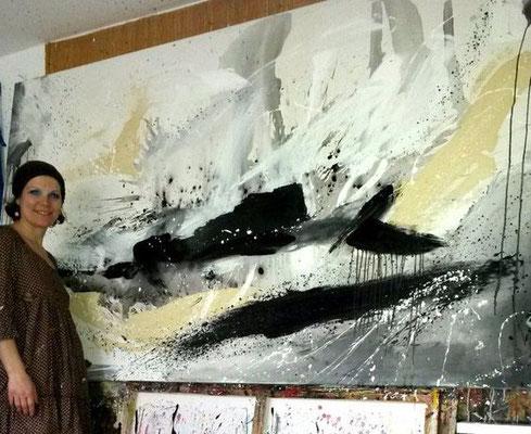 schwarz weiß abstrakt