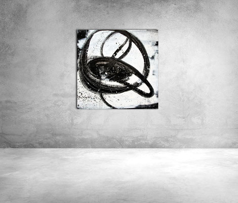 abstract painting white