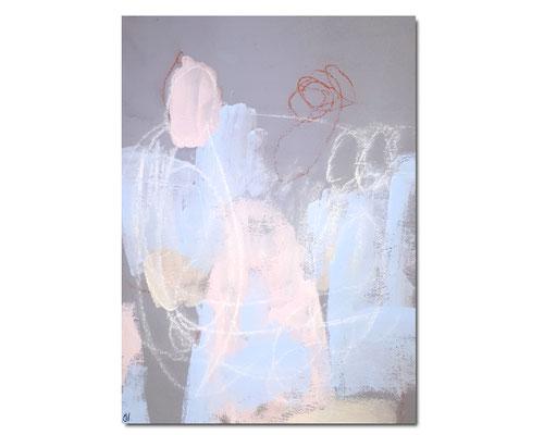 Chorprobe II - Malplatte - grau hellblau rosa