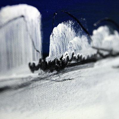 blaue abstrakte malerei