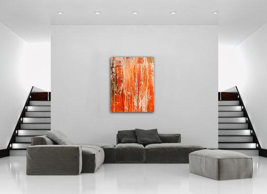 orange bild kunst