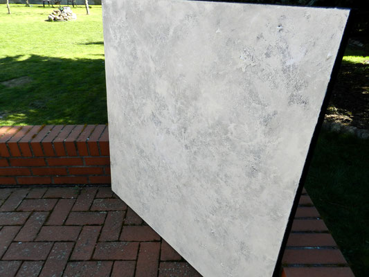 abstraktes Unikat weiß beige