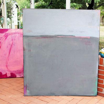 abstrakte gemaltes Bild Landschaft