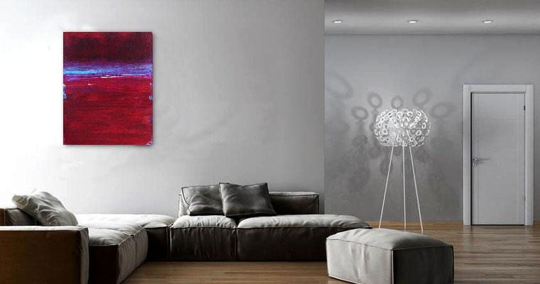 Bild rot im Raum