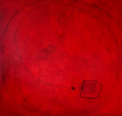 abstraktes rotes Gemälde
