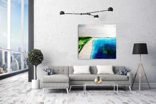 blaues Bild im Wohnbereich