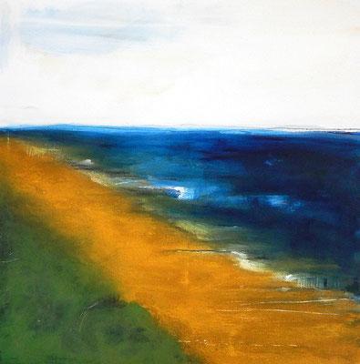 bild gemalter strand