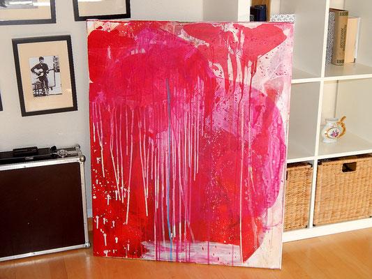 rote abstrakte Gemälde