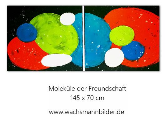gemalt abstrakt Moleküle der Freundschaft