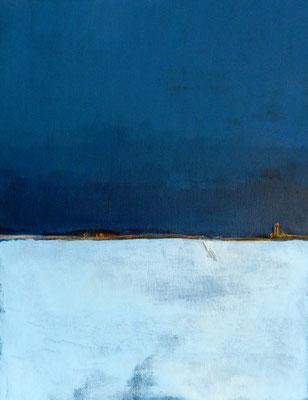 Blaues Bild Landschaft 2